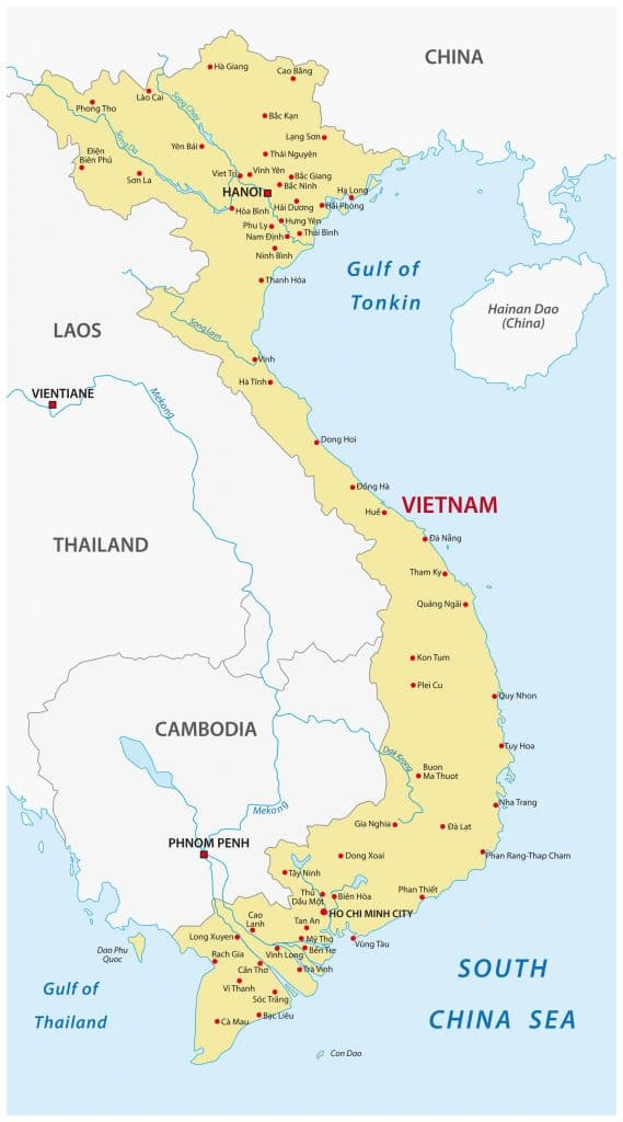 Mapa do Vietname