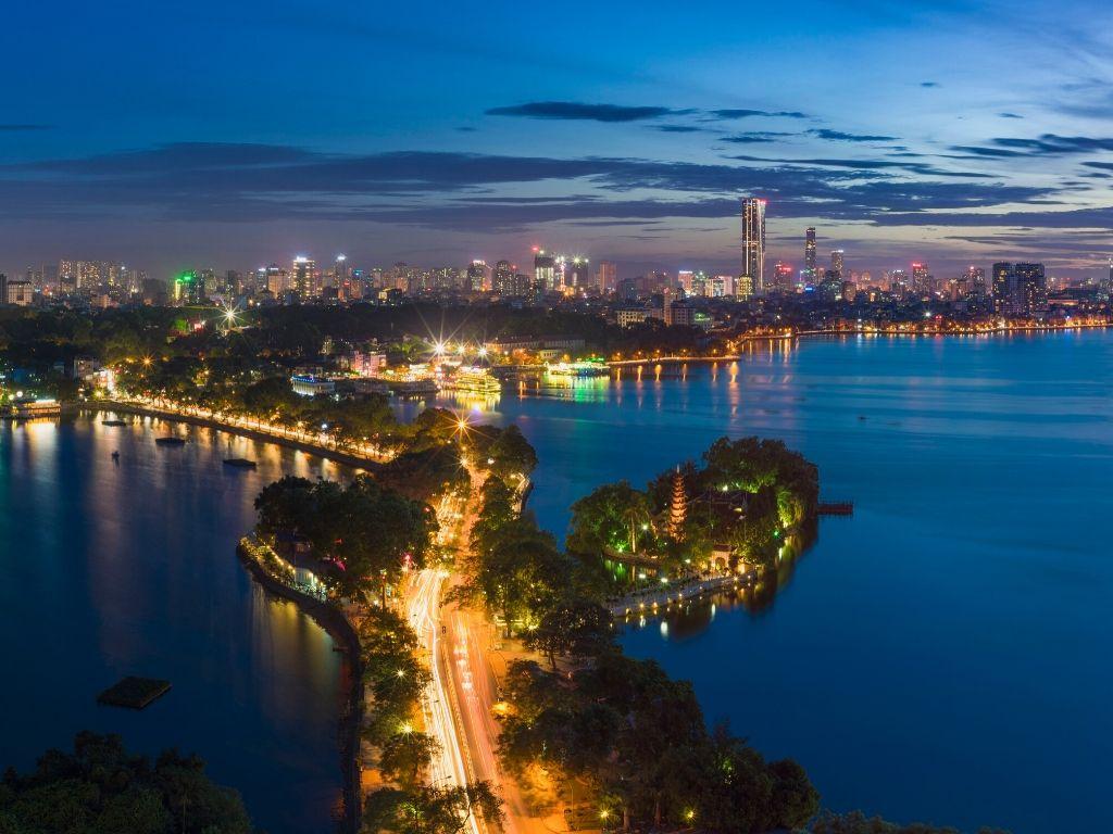 Lago Tay Ho em Hanoi