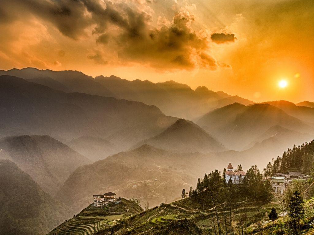 Monte Fansipan em Sapa no Vietname