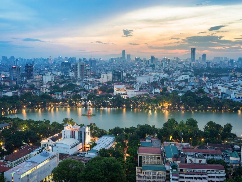 Onde fica Hanoi no Vietname