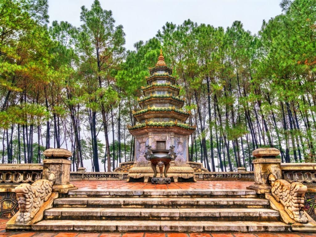 Pagode de Thien Mu em Hue no Vietname
