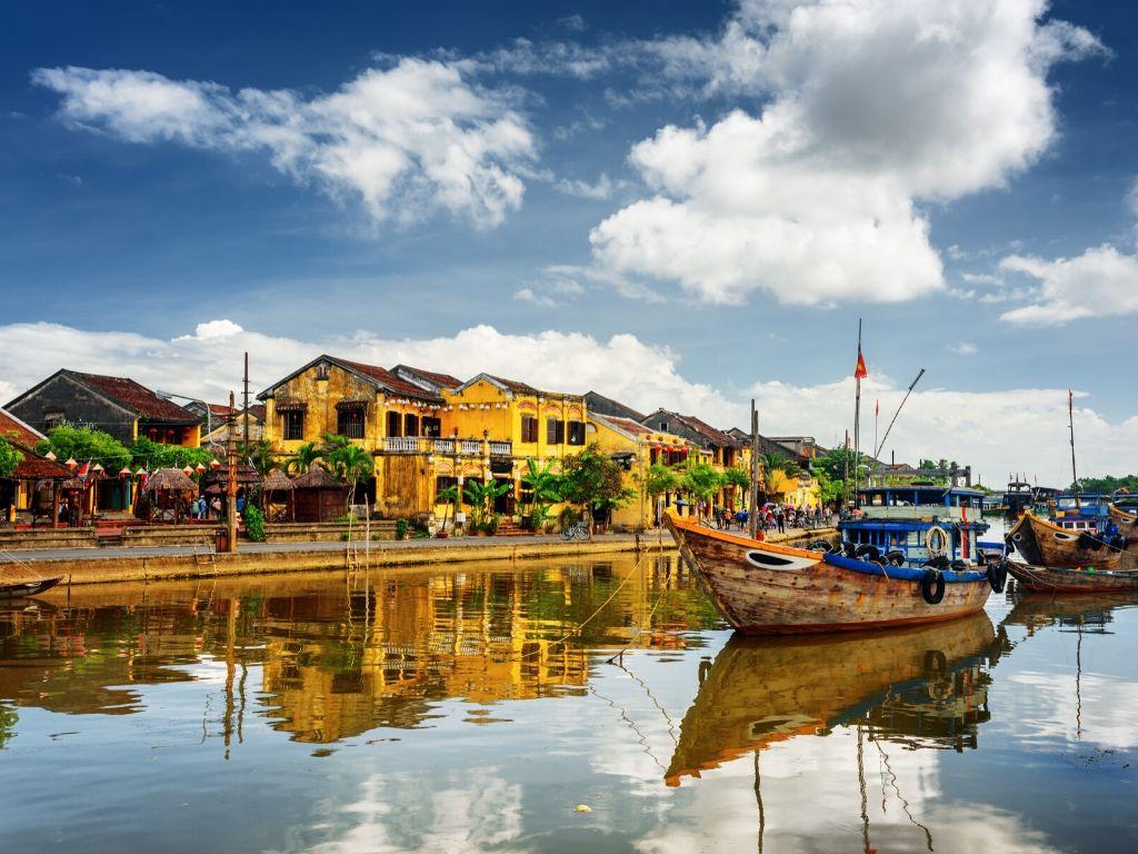 Barcos em Hoi An Vietname